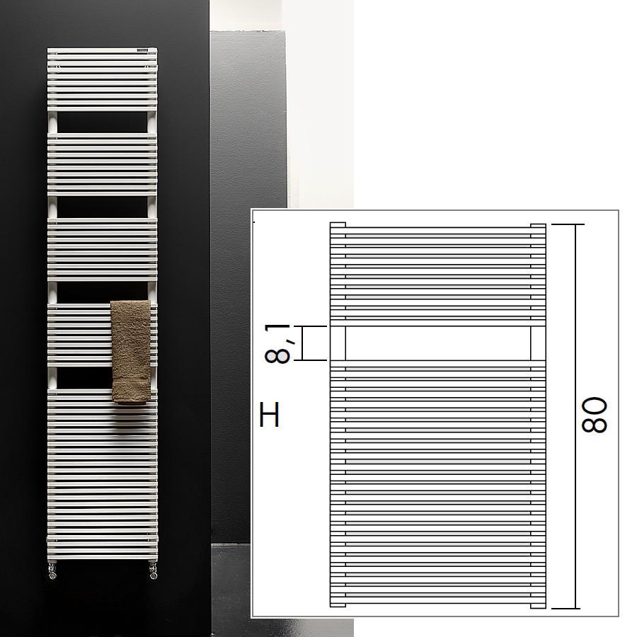 TRIM BATH Design-Heizkörper mit Handtuchdurchlass, Warmwasser oder Elektrisch nach Wahl