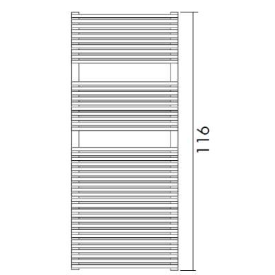 Antrax Design-Heizkörper TRIM-BATH 116 cm hoch
