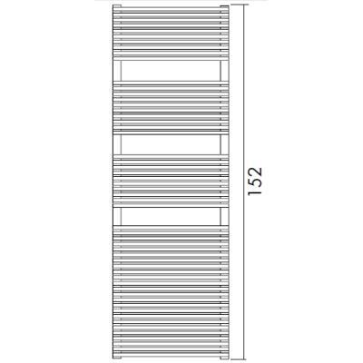 Antrax Design-Heizkörper TRIM-BATH 152 cm hoch