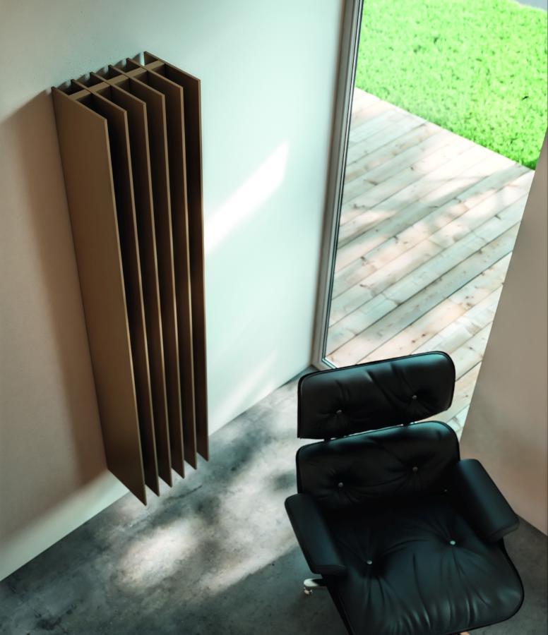 Antrax Design-Heizkörper TT von oben, Farbe braun
