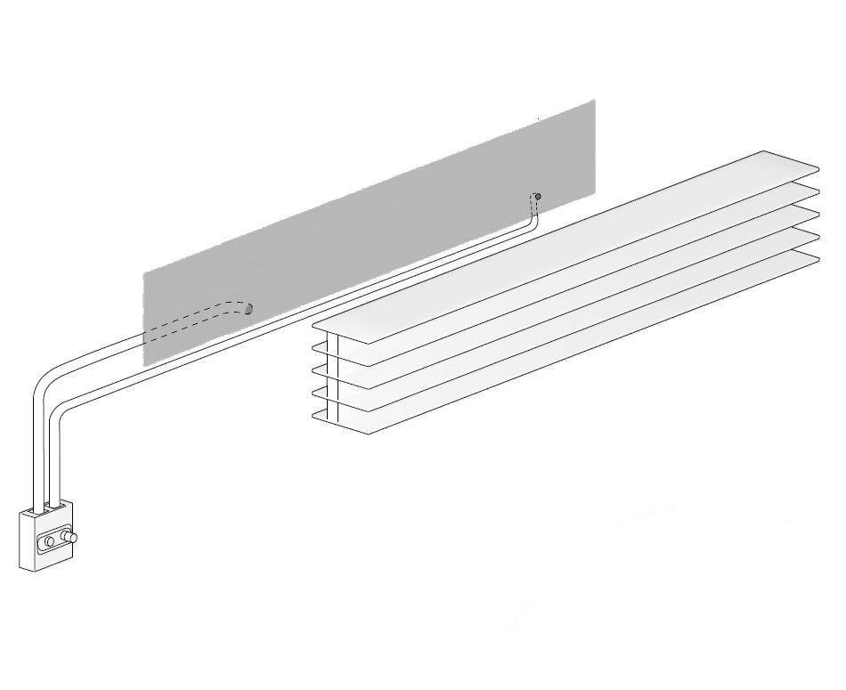 Externe Ventile für den Heizkörper TT horizontal