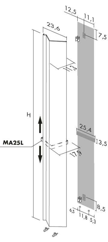 Antrax Design-Heizkörper ANDROID vertikal V1, technische Daten