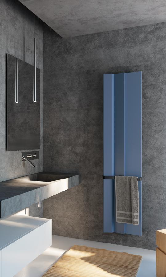 Antrax Design-Heizkörper ANDROID vertikal V2, 40,9 cm breit, in blau
