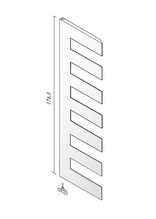 PETTINE 176 Design-Heizkörper Warmwasser, Ausführung nach Wahl