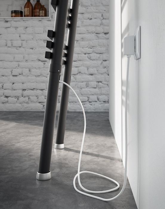Antrax Design-Heizkörper PIOLI mit elektrischem Anschluss