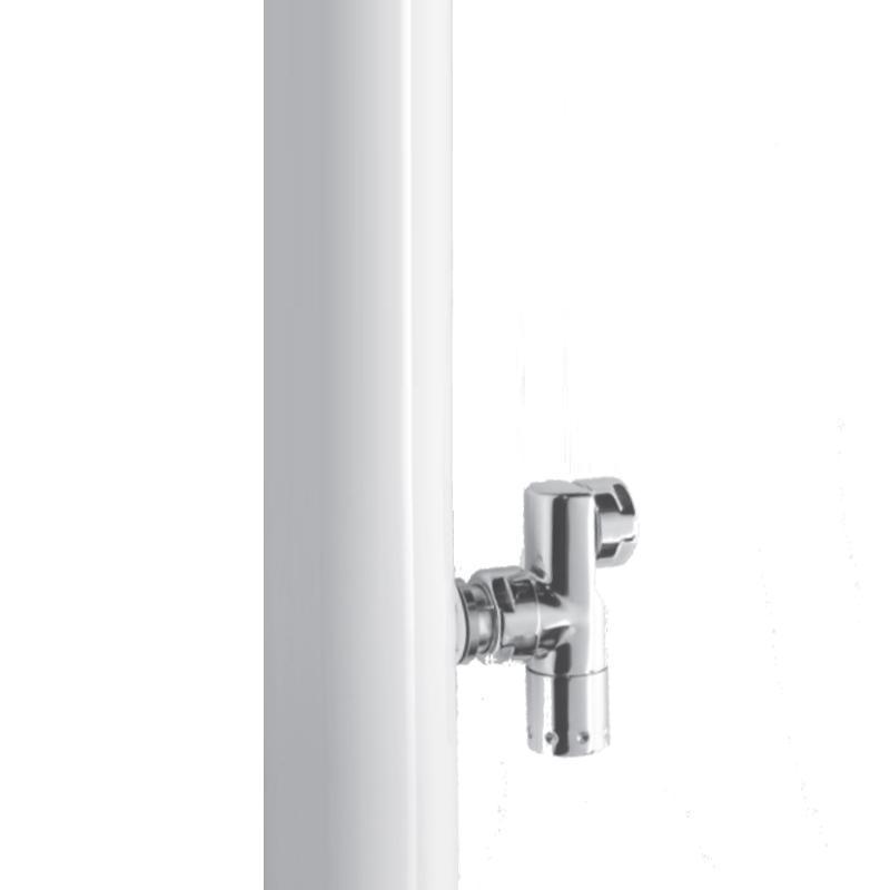 Antrax Design-Heizkörper PIOLI WALL, Ventil parallel zum Rohr