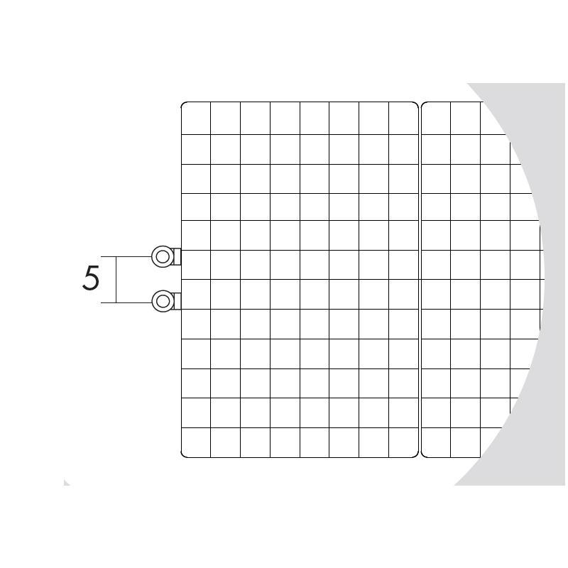 Antrax Design-Heizkörper WAFFLE, Sonderanschluß 5 cm Achsabstand