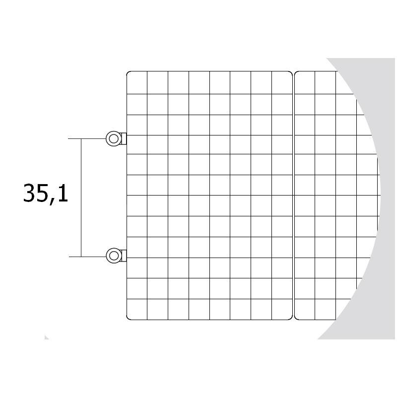 Antrax Design-Heizkörper WAFFLE, Standard-Anschluß