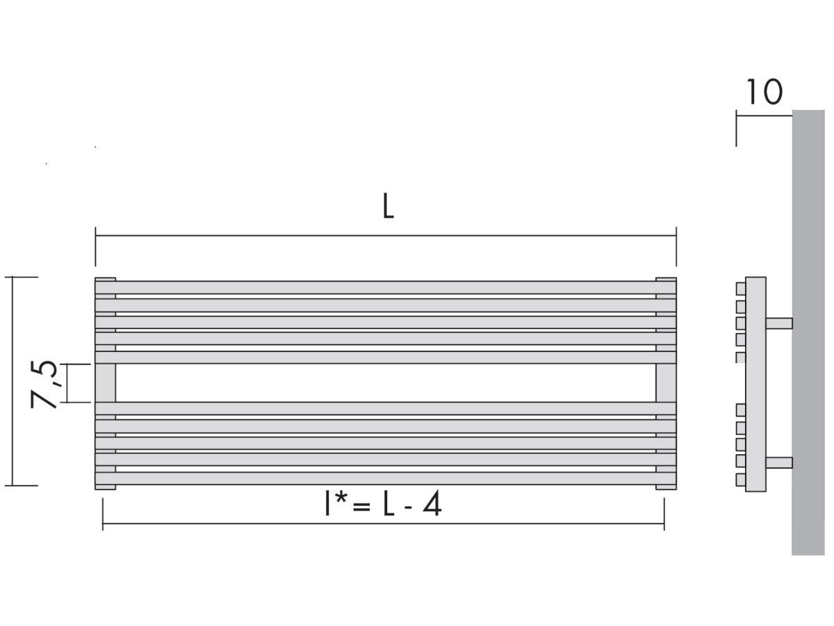 Antrax Design-Heizkörper BDO H_20