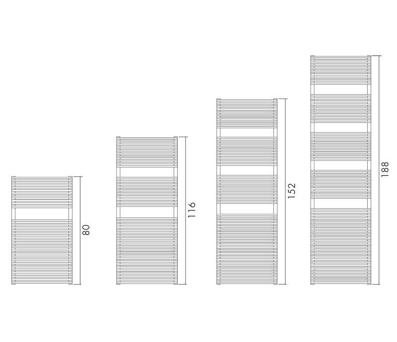 Antrax Design-Heizkörper BD 13s in vier verschiedenen Größen