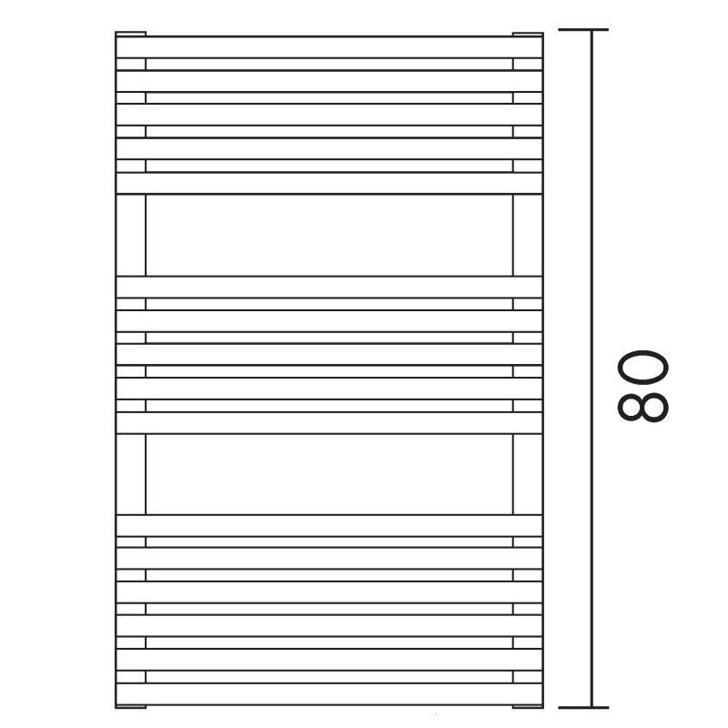 Antrax Design-Heizkörper BD 25, 80 cm hoch