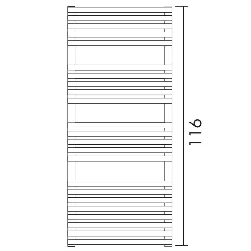 Antrax Design-Heizkörper BD 25, 116 cm hoch