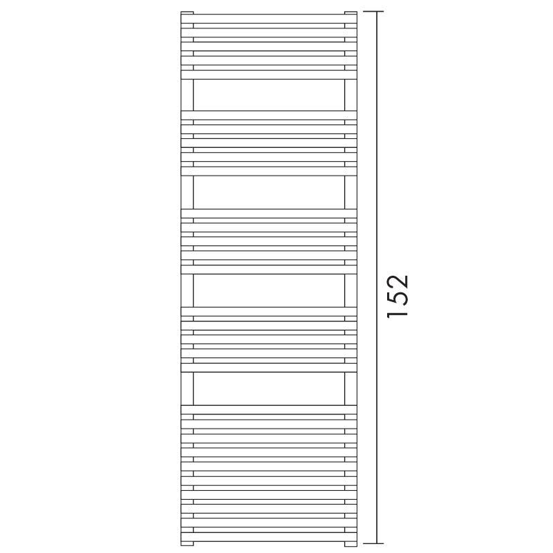 Antrax Design-Heizkörper BD 25, 152 cm hoch