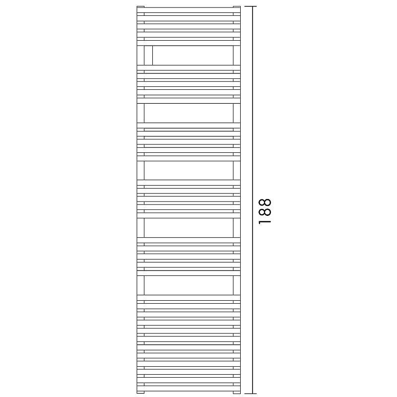 Antrax Design-Heizkörper BD 25, 188 cm hoch