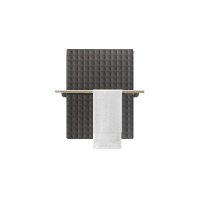 Antrax Design-Heizkörper WAFFLE Bath 82 cm, 1 Handtuchstange