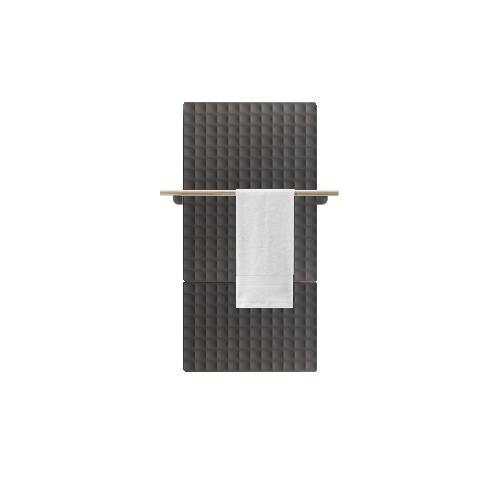 Antrax Design-Heizkörper WAFFLE Bath 123 cm, 1 Handtuchstange