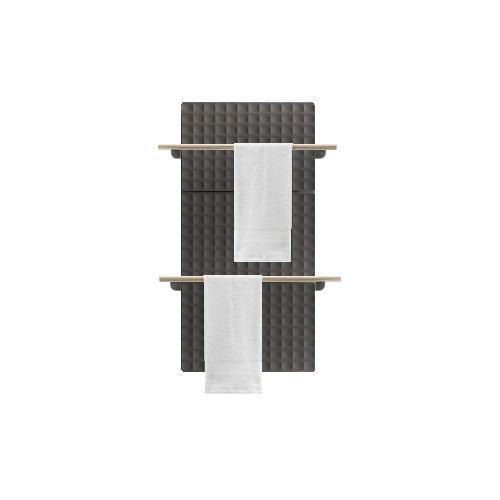 Antrax Design-Heizkörper WAFFLE Bath 123 cm, 2 Handtuchstangen