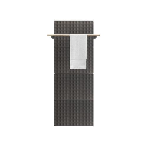 Antrax Design-Heizkörper WAFFLE Bath 146 cm, 1 Handtuchstange