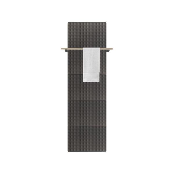 Antrax Design-Heizkörper WAFFLE Bath 205 cm, 1 Handtuchstange