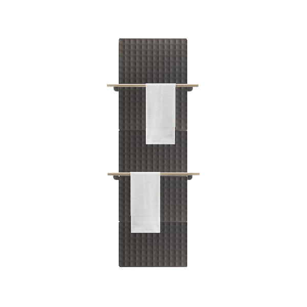 Antrax Design-Heizkörper WAFFLE Bath 205 cm, 2 Handtuchstangen