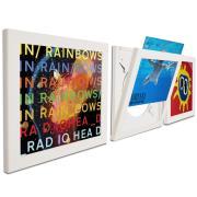Art Vinyl Flip & Frame Bilderrahmen 3er-Set weiß