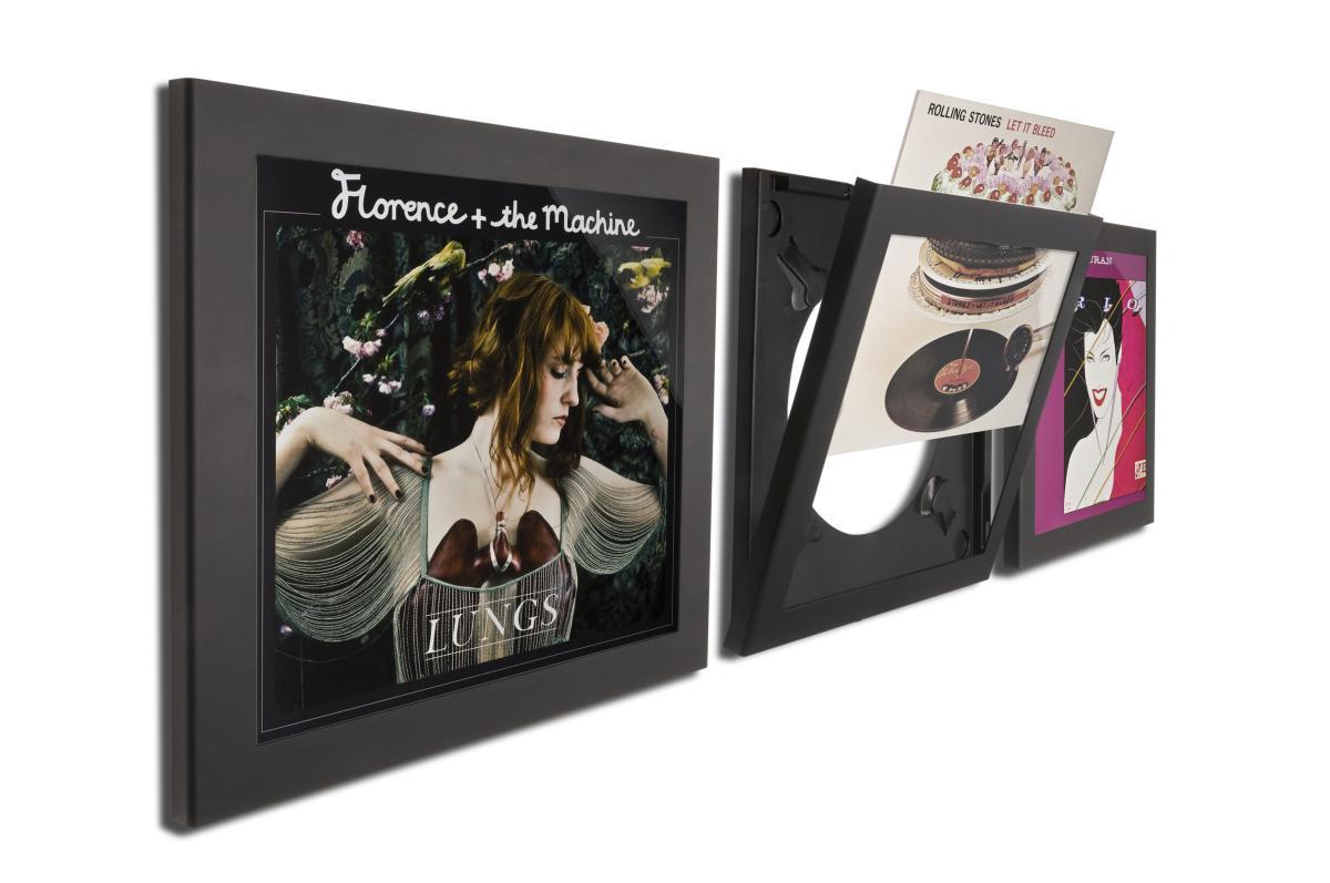 Art Vinyl Flip & Frame Bilderrahmen 3er-Set schwarz