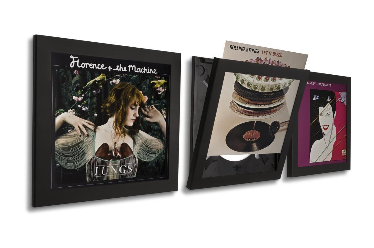 Art Vinyl Flip & Frame Bilderrahmen und Display Wechselrahmen 3er-Set schwarz
