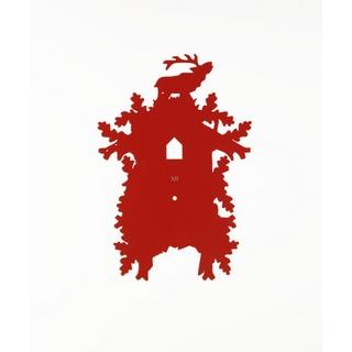 Tuningkid Hirsch rot für Kuckucksuhr