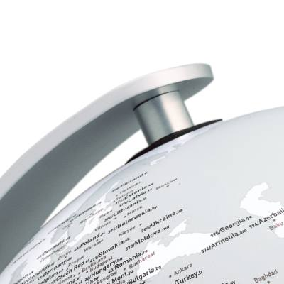 Globus Q-Ball mit Beleuchtung, Detail Halterung
