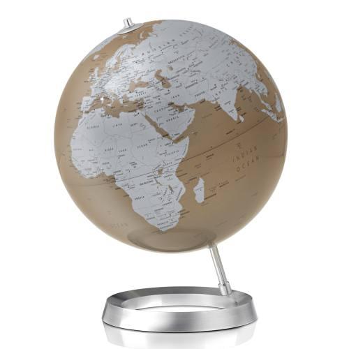 Globus VISION Ø 30 cm, Fuß Alum/Weltkarte almond