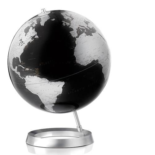 Globus VISION Ø 30 cm, Fuß Alum/Weltkarte schwarz metallic