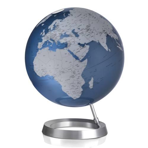Globus VISION Ø 30 cm, Fuß Alum/Weltkarte midnight blue