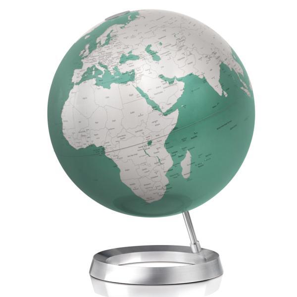 Globus VISION Ø 30 cm, Fuß Alum/Weltkarte mint