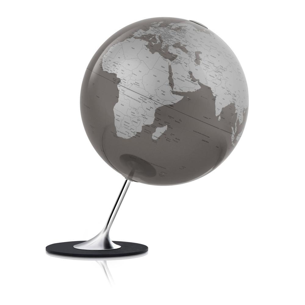 Atmosphere Globus ANGLO SLATE, Meersflächen schiefergrau / Kontinente silber metallic