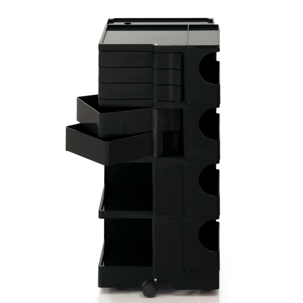BOBY L Rollcontainer B45N, H 95 cm, schwarz