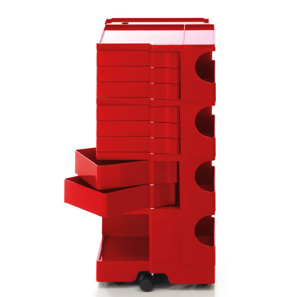 BOBY L Rollcontainer B48R, H 95 cm, rot