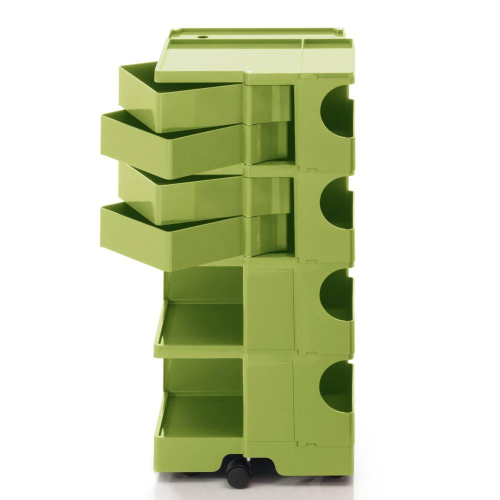 BOBY L Rollcontainer B44V, H 95 cm, limonengrün