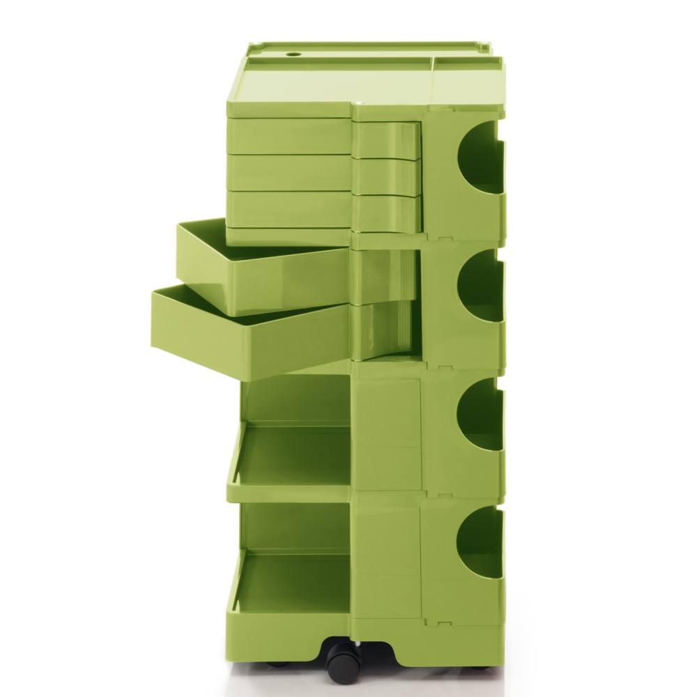 BOBY L Rollcontainer B45V, H 95 cm, limonengrün