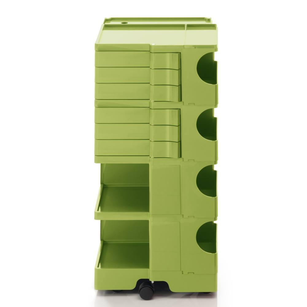 BOBY L Rollcontainer B46V, H 95 cm, limonengrün