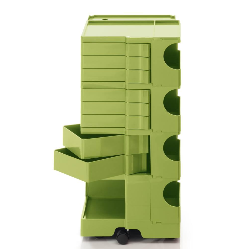 BOBY L Rollcontainer B48V, H 95 cm, limonengrün