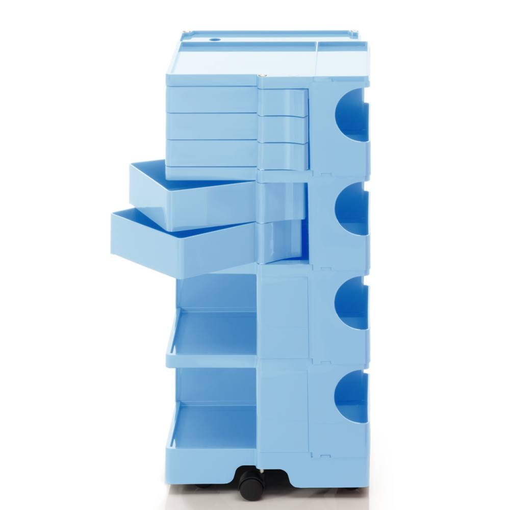BOBY L Rollcontainer B45U, H 95 cm, bonnie blue