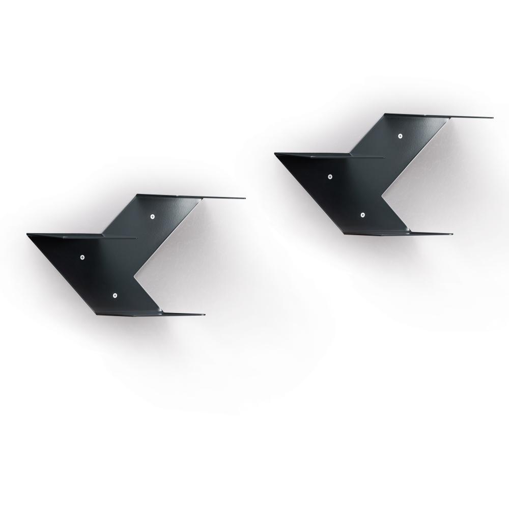 FIN Regalmodul 2er-Set anthrazitgrau