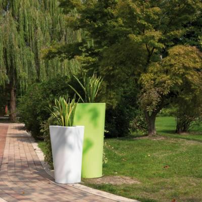 EVE Pflanzgefäß, klein weiß / groß grün