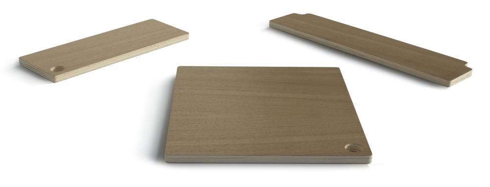 Abdeckplatten aus Eichenholz für BOBY Rollcontainer, komplett