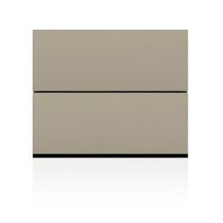BRIX Kommode S2.B, mit 2 Schubladen, beige hochglanz lackiert