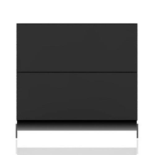 BRIX Kommode S2.K, mit 2 Schubladen, dunkelgrau hochglanz lackiert