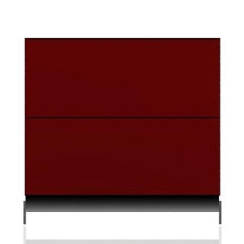 BRIX Kommode S2.K, mit 2 Schubladen, rot hochglanz lackiert
