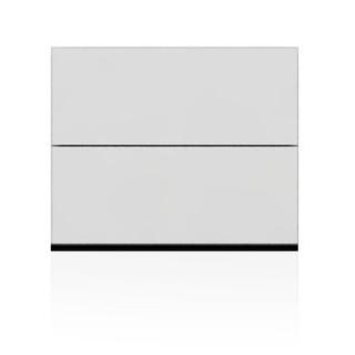 BRIX Kommode S2.B, mit 2 Schubladen, weiß hochglanz lackiert