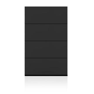 BRIX Kommode S4.B, mit 4 Schubladen, hochglanz lackiert dunkelgrau