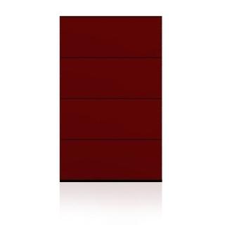 BRIX Kommode S4.B, mit 4 Schubladen, hochglanz lackiert rot